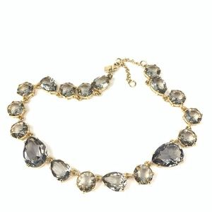 Banana Republic Gold & Crystal Statement Necklace